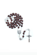 Saint Benedict rosary dark wood on chain