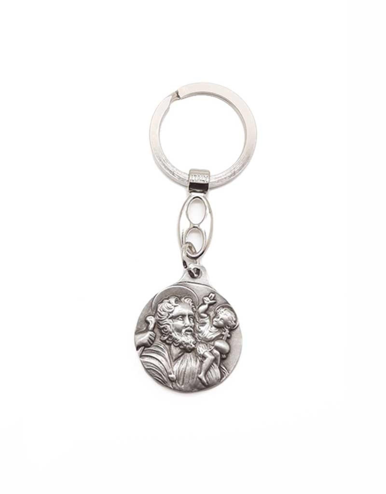 Keychain : Saint Joseph / Saint Christopher
