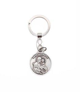 Porte-clés:  saint Joseph / saint Christophe
