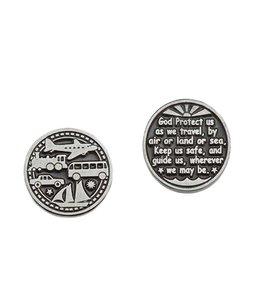 Travel prayer coin