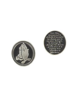 Serenity prayer coin (french)