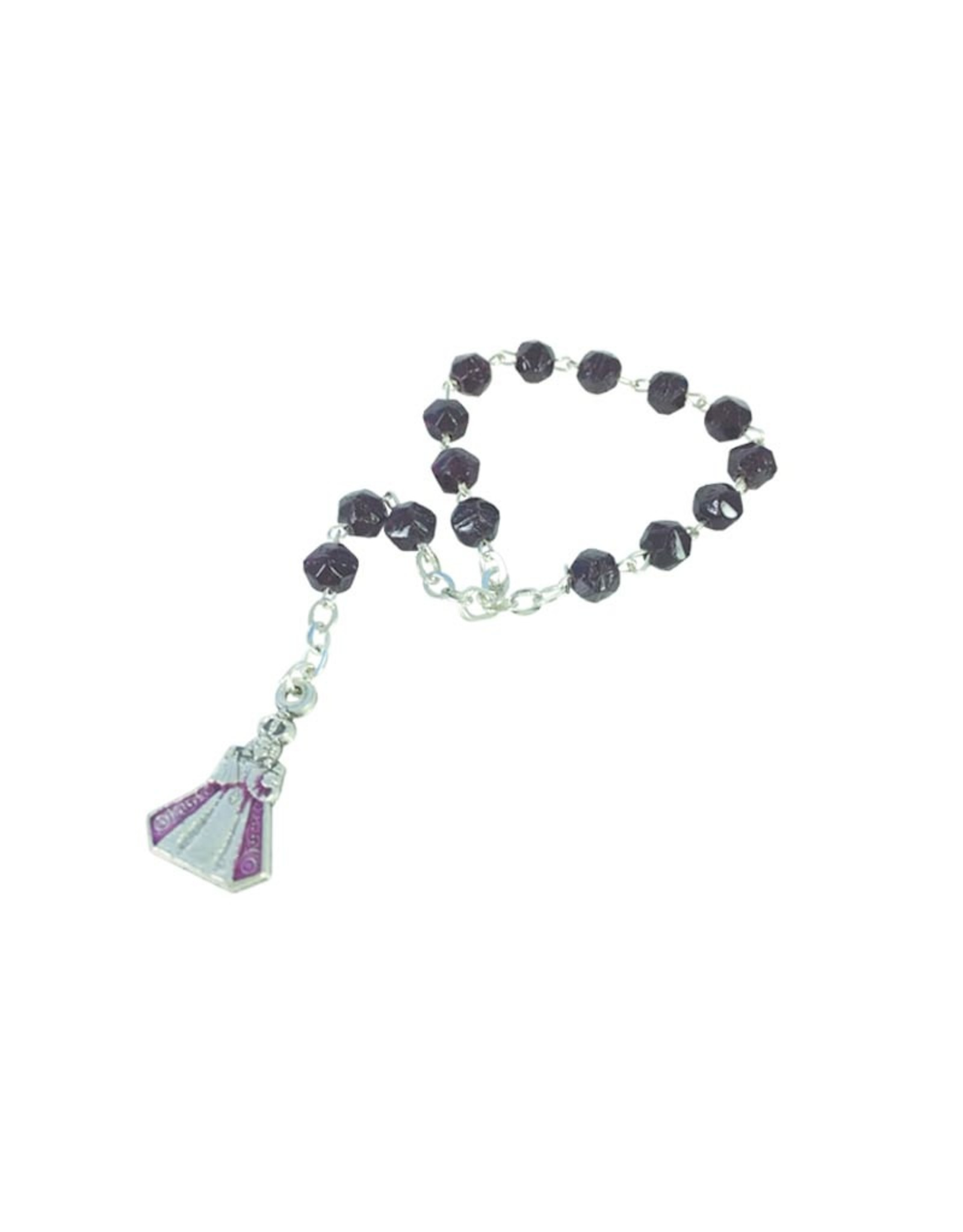 Jesus of Prague black decade rosary