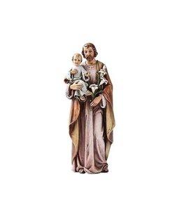 Joseph's Studio / Roman Statue Saint Joseph lilas et brun (16cm)