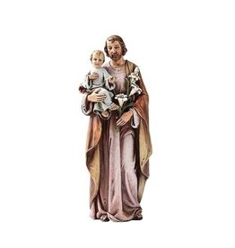 Joseph's Studio / Roman Saint Joseph statue : lilac and brown color (16cm)