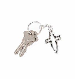 Porte-clés croix ajourée Ichtus