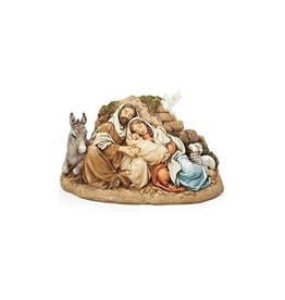 Joseph's Studio / Roman Restful Holy Family resin  statue (15cm)