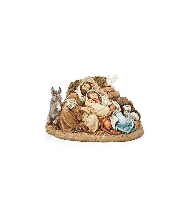 Joseph's Studio / Roman Restful Holy Family resin  statue (15cm)