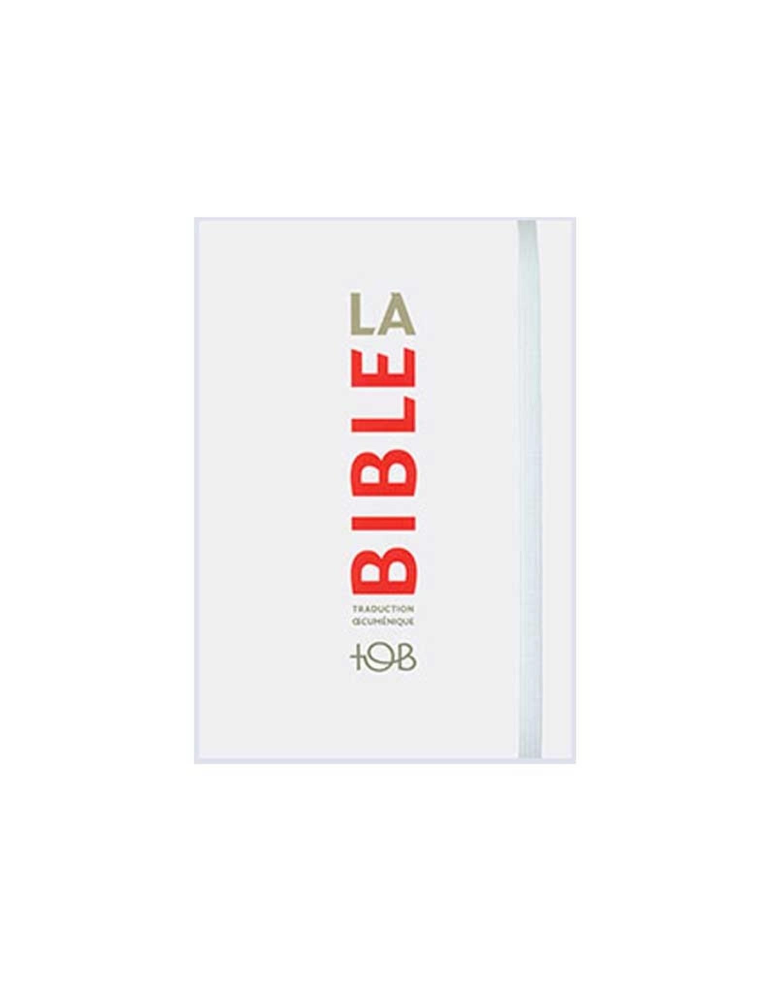 Société Biblique / Bible Society La Bible de TOB Traduction Oecuménique blanc format poche