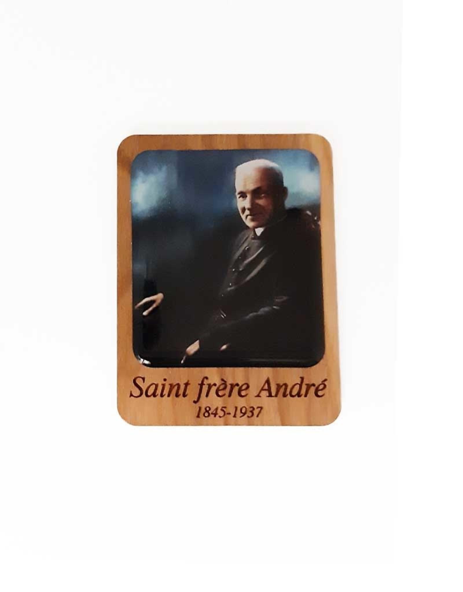 Aimant en bois saint frère André (couleur)