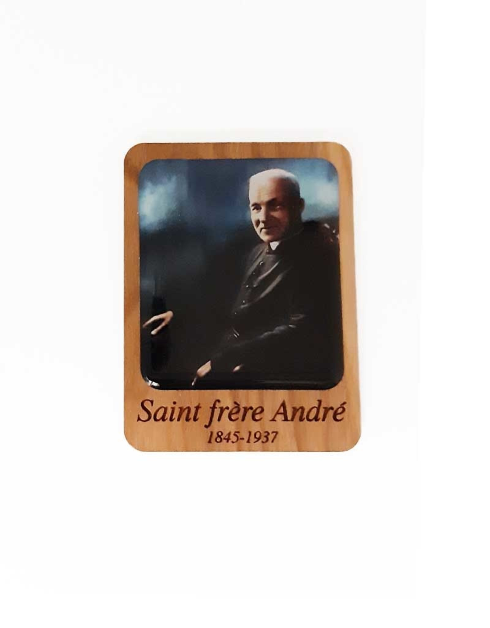 Saint Brother André wooden magnet (color)