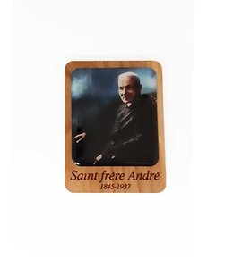 Saint Brother André wooden magnet (color)