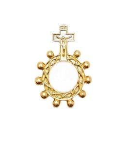 Golden scout rosary ring