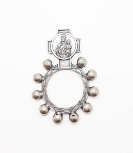 Saint Joseph and Holy Spirit scout rosary ring