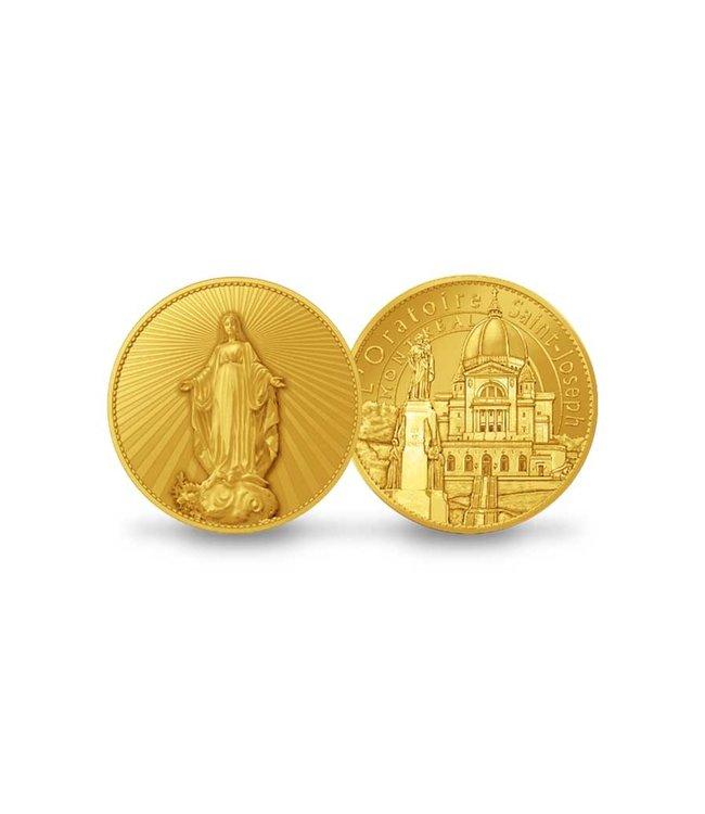 Pichard-Balme Médaillon souvenir Vierge au pied du Mont-Royal