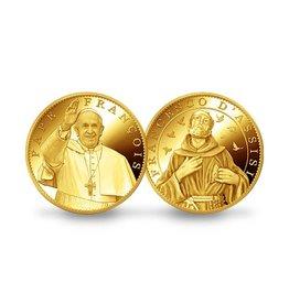 Pichard-Balme Médaillon souvenir Pape Francois / Saint François d'Assise