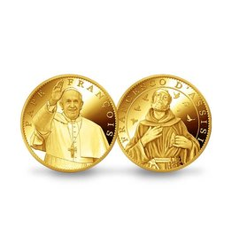 Pichard-Balme Pope Francis / Saint Francis of Assisi souvenir medallion