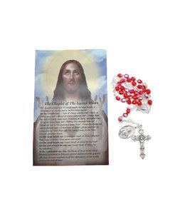 Chapelet  Sacré-Coeur de Jésus et prière en 3 langues