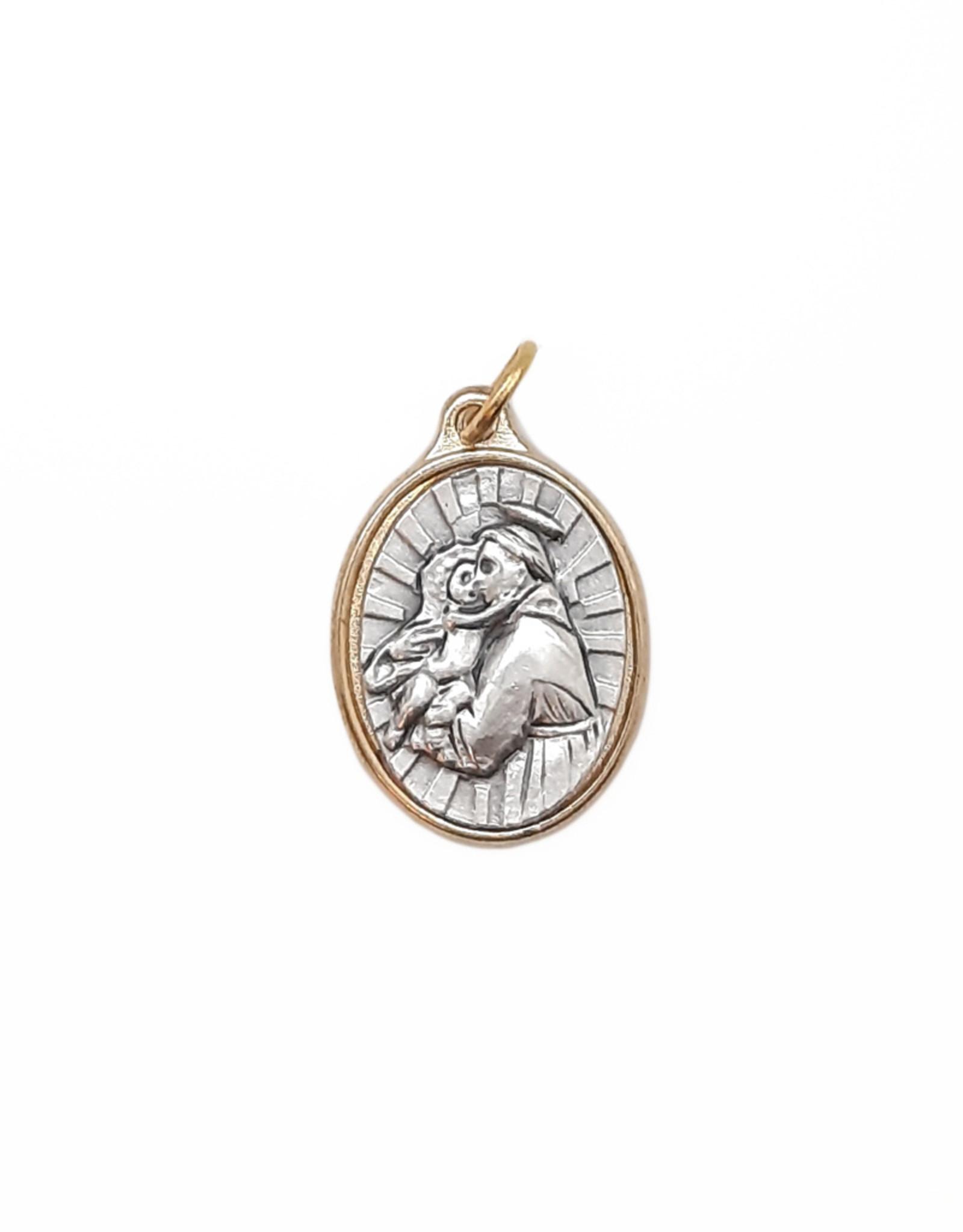 Médaille saint Antoine ( couleur argent sur or)