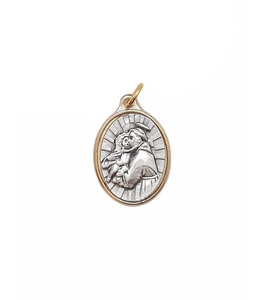Medal of Saint Anthony (silver on gold color)