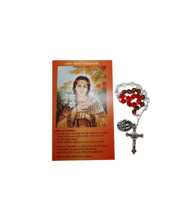 Saint Kateri Tekakwitha chaplet and prayer in 2 languages