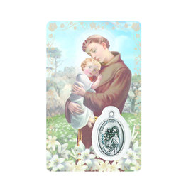 Carte médaille Saint Anthony (anglais)
