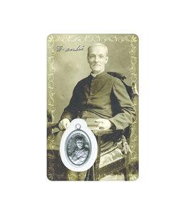 Carte médaille saint frère André (sépia) - Bilingue