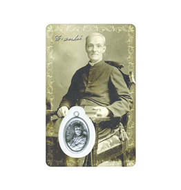 Medal card : Saint Brother Andre (sepia) - Bilingual