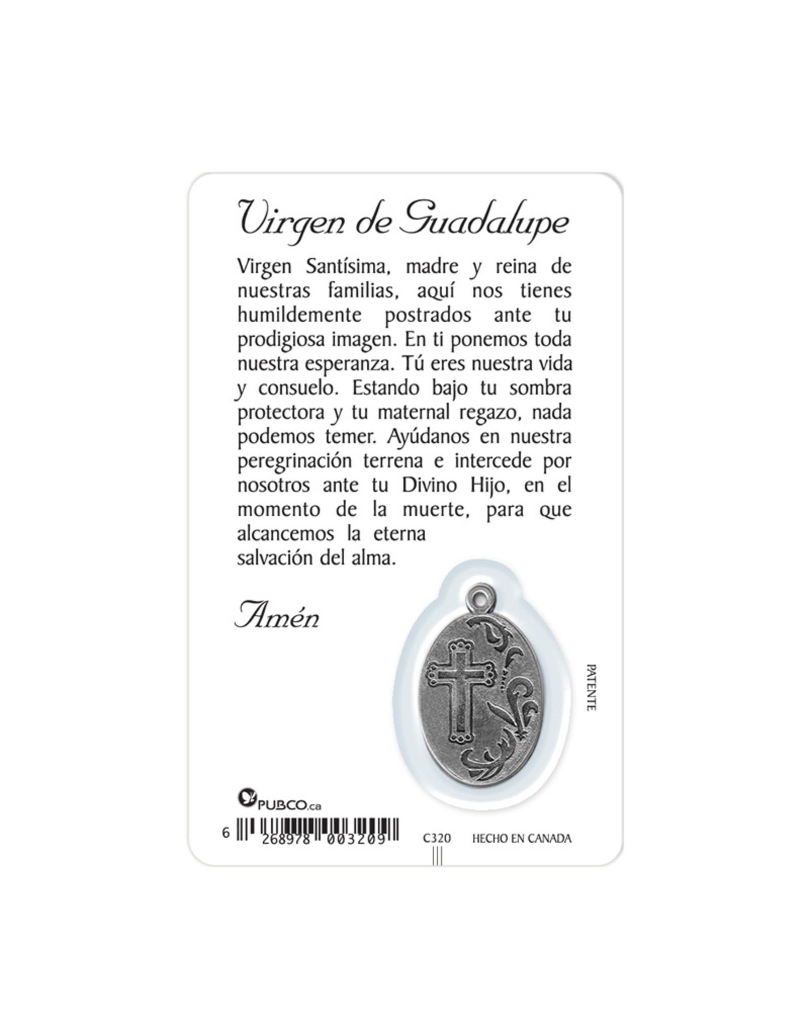 Carte médaille : Virgen de Guadalupe (espagnol)