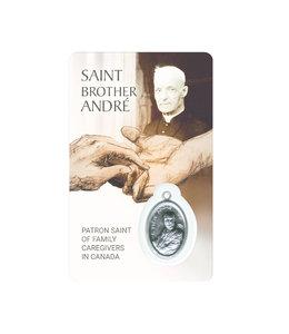 Medal card : Saint Brother André, Patron Saint of family caregivers