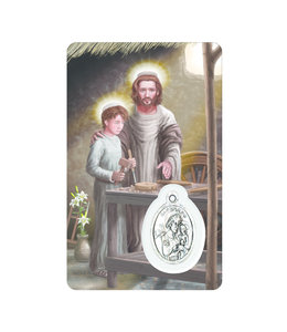 Medal Card : Saint Joseph the Worker (french)