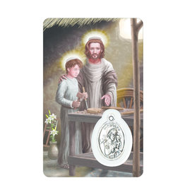 Carte médaille saint Joseph travailleur