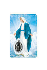 Carte médaille Vierge Miraculeuse