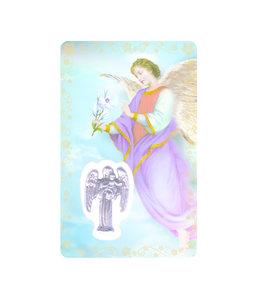 Carte médaille archange saint Gabriel