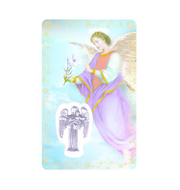 Medal card : Archangel Saint Gabriel (french)