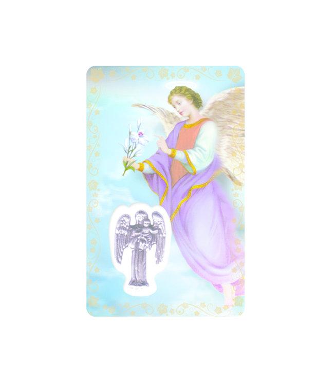 Medal card : Archangel Saint Gabriel (french)