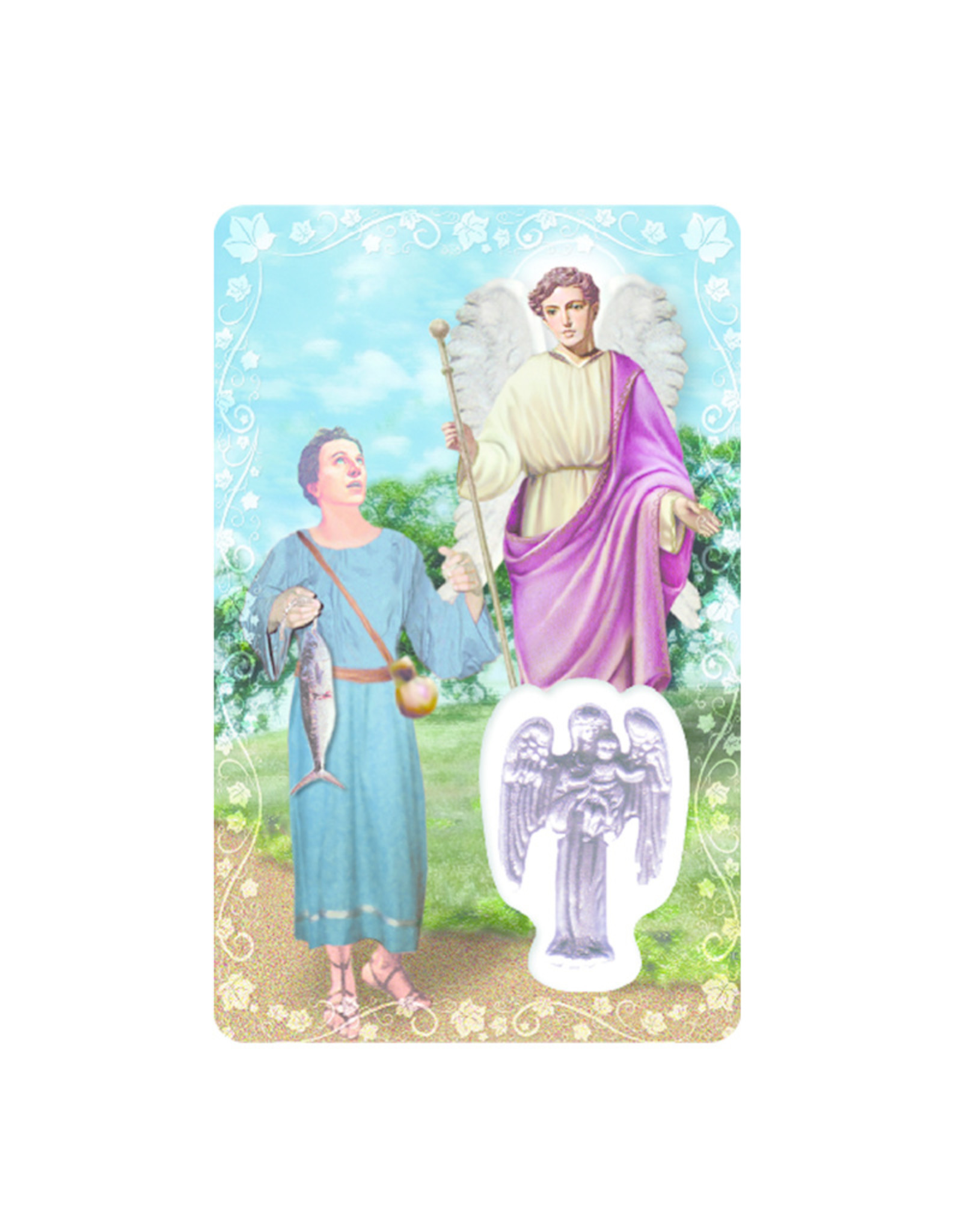 Medal card : Archangel Saint Raphael (french)