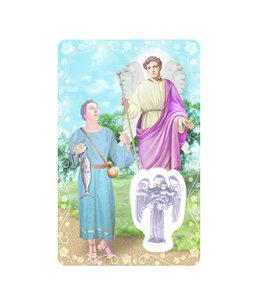 Medal card : Archangel Saint Raphael (french)
