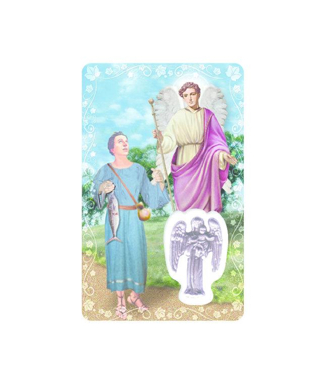 Carte médaille archange saint Raphaël