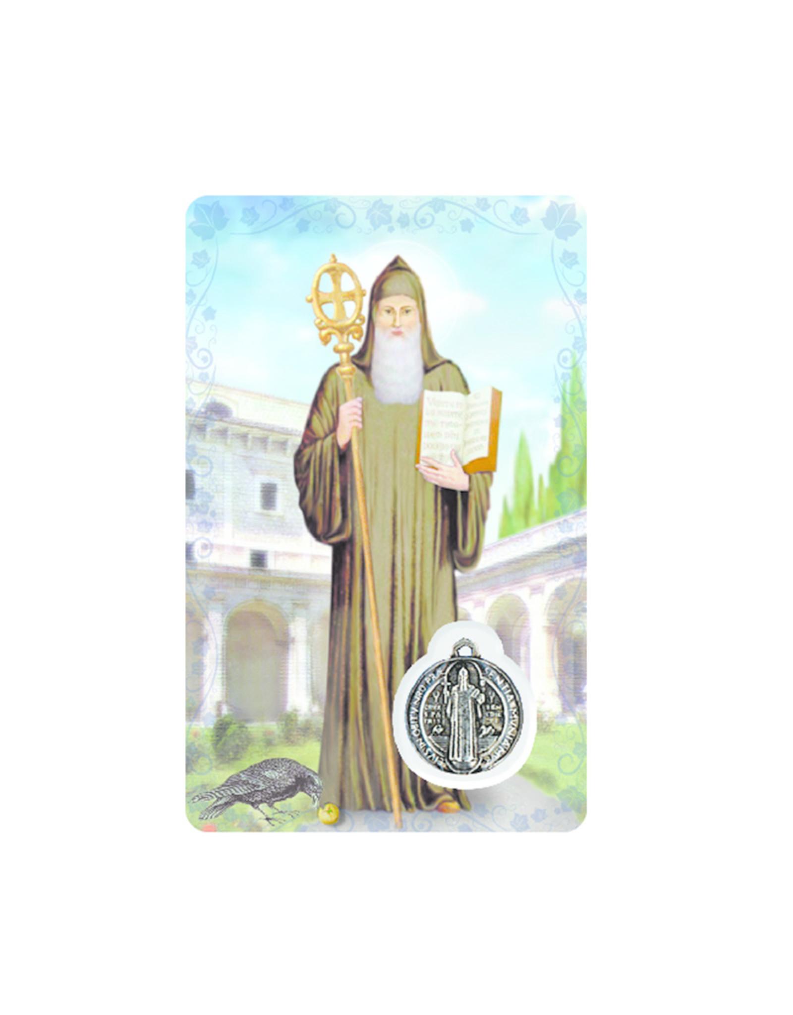 Carte médaille saint Benoît