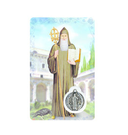Medal card : Saint Benedict (french)