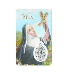 Carte médaille sainte Rita