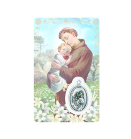 Medal card : Saint Anthony (french)