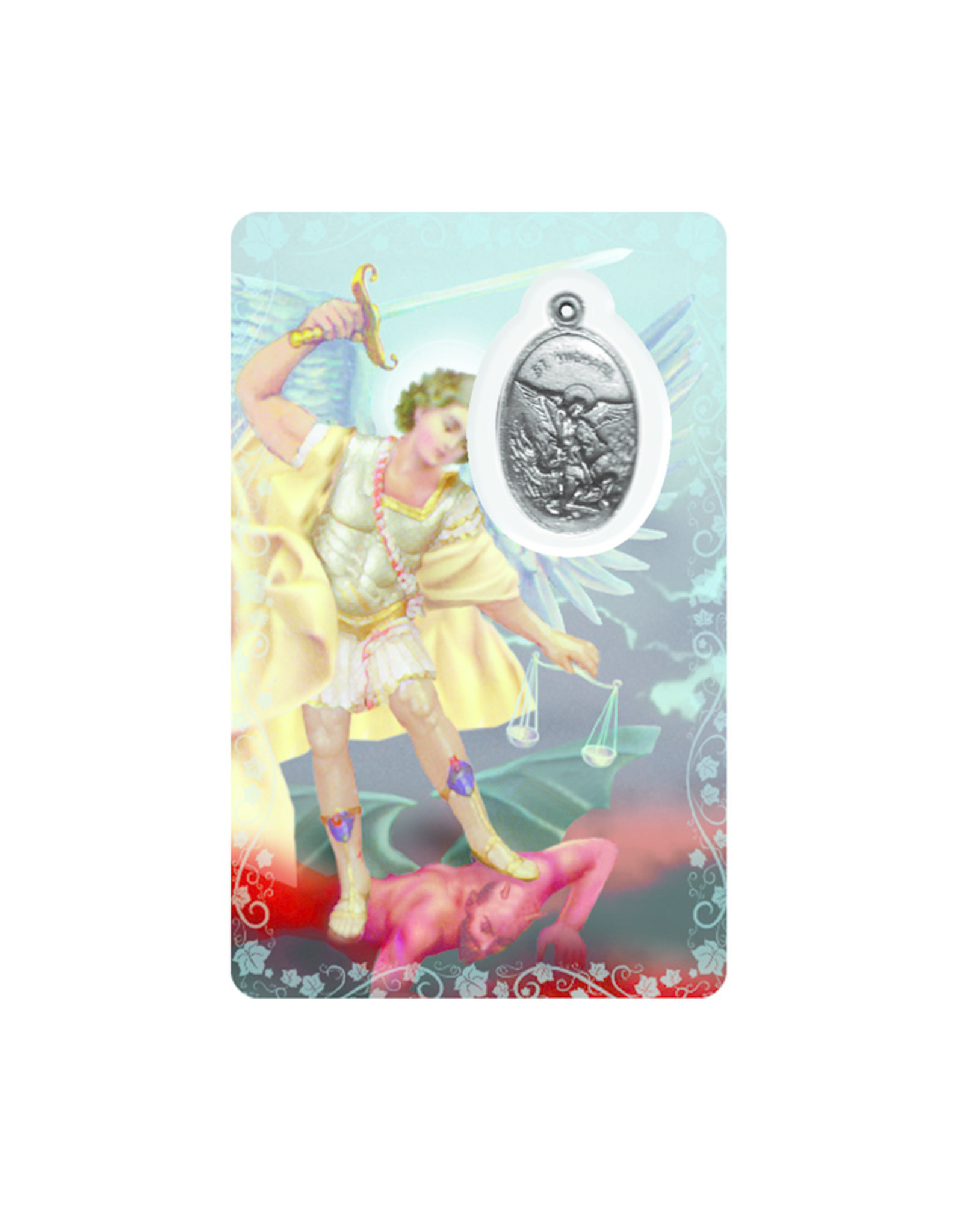 Medal card : Archangel Saint Michael (french)