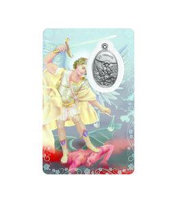 Medal card : Archangel Saint Michael (french)