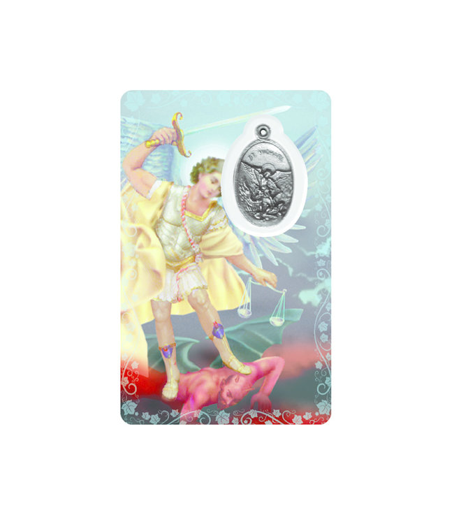 Carte médaille archange saint Michel