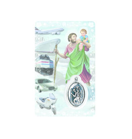 Medal card : Saint Christopher
