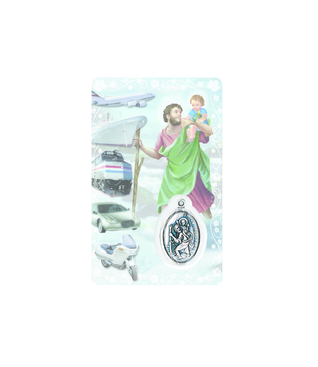 Carte médaille saint Christophe (anglais)