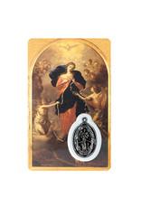 Carte médaille Marie qui défait les nœuds