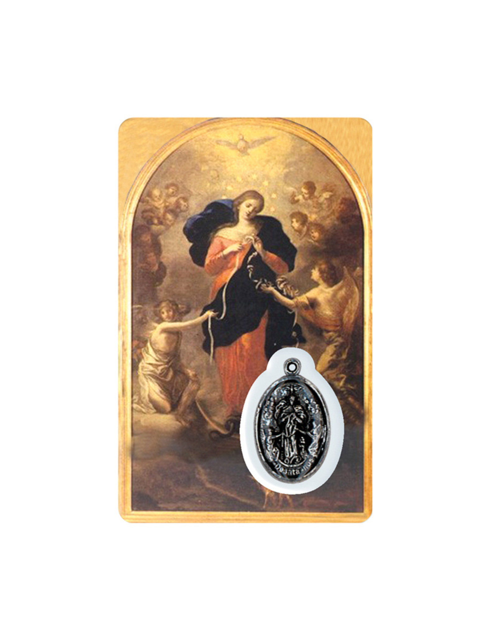 Medal card : Mary Undoer of Knots (french)