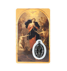 Medal card : Mary Undoer of Knots (french)